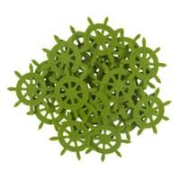 La Mia 25'Li Fıstık Yeşil Dümen Keçe Motifler - Fs321-M53