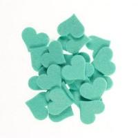 La Mia 25'Li Mint Yeşili Orta Boy Kalp Keçe Motifler - Fs308-M59