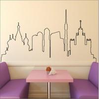 I Love My Wall Şehirler (Shr-204)Sticker(Baykuş Sticker Hediye!)