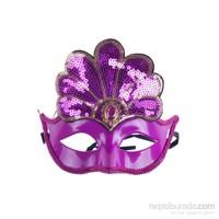 KullanAtMarket Fuşya Payetli Balo Maskesi