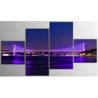 Tictac 4 Parça Kanvas Tablo - Boğaz Köprüsü