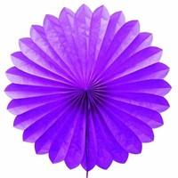 Pandoli Dilimli Violet Renk Kağıt Yelpaze Süs 40 Cm 1 Adet