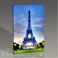 Pluscanvas - Paris - Eiffel Tower İn Blue Tablo