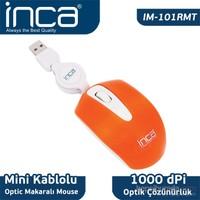 Inca Usb Mini Makaralı Turuncu Mouse IM-101RMT