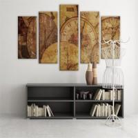 Dekoratif 5 Parçalı Kanvas Tablo-5K-Hb061015-223