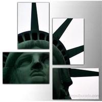 Özgürlük Anıtı - 4 Parçalı Kanvas Tablo