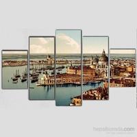 Venedik - 5 Parçalı Kanvas Tablo - 133X75 Cm