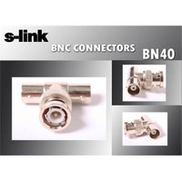 S-Link Sl-Bn40 Bnc M To 2*Bnc F T 50 Li Paket Connector