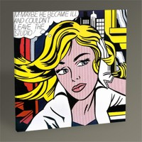Tablo 360 Roy Lichtenstein Girl With Hair Ribbon, C.1965 30X30