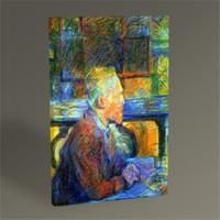 Tablo 360 Henri De Toulouse-Lautrec Portrait Of Vincent Van Gogh 45X30