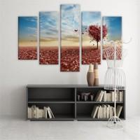 Dekoratif 5 Parçalı Kanvas Tablo-5K-Hb061015-228