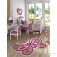 Confetti Sweet Butterfly 100X160 Pembe Oymalı Halı