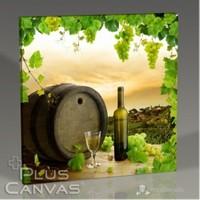 Pluscanvas - White Wine And Barrel Tablo