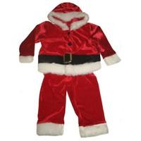 Kadife Erkek Bebek Noel Baba Kostümü 1-2 Yaş