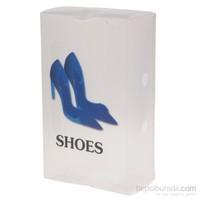 Gold Dekor Ayakkabı Saklama Kutusu Mavi 3 Lü.