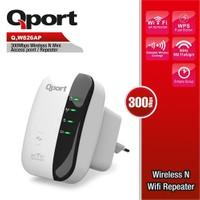 Qport 300 Mbps 2.4 Ghz Kablosuz Adaptör / Menzil Genişletici (Q-W826AP)