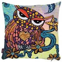 Bengü Accessories Baykuş Desenli Dekoratif Yastık 27