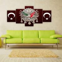 Tablo İstanbul 150X70 Cm Büyük Boy 5 Parçalı Kanvas Tablo-114