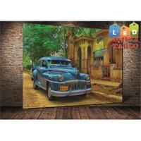 Tablo İstanbul Cuba Classic Car Led Işıklı Kanvas Tablo 45 X 65 Cm