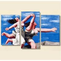 Tictac 3 Parça Kanvas Tablo - Koşan Kadınlar Picasso