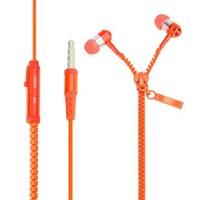 Saywin U-2045 Zipper Mikrofonlu Fermuarlı Kulak İçi Kulaklık Turuncu