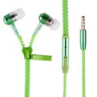 Saywin U-2045 Zipper Mikrofonlu Fermuarlı Kulak İçi Kulaklık Yeşil