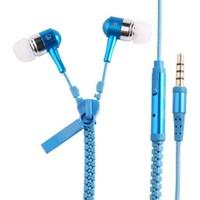 Saywin U-2045 Zipper Mikrofonlu Fermuarlı Kulak İçi Kulaklık Mavi