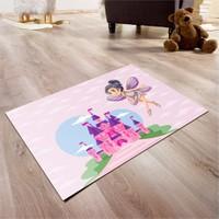 Cici Halı Şatolu Prenses Çocuk Halısı 90X140 Cm