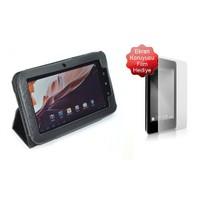 """Codegen CKL-07 7"""" Siyah Deri Standlı Tablet Kılıfı + Ekran Koruyucu Film"""