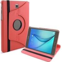 Microsonic 360 Rotating Stand Deri Samsung Galaxy Tab A 8.0'' T350 Kılıf Kırmızı