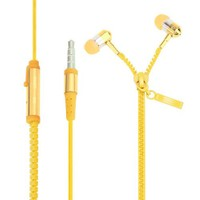 Saywin U-2045 Zipper Mikrofonlu Fermuarlı Kulak İçi Kulaklık Sarı