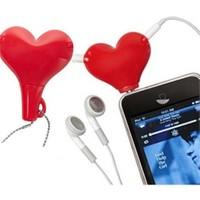 Practika Kalp Şekilli Kulaklık Çoklayıcı