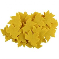 La Mia 25'Li Sarı Çınar Yaprak Keçe Motifler - Ys352-M09