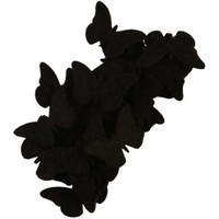 La Mia 25'Li Siyah Kelebek Keçe Motifler - Fs306-M01