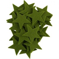 La Mia 25'Li Fıstık Yeşil Yıldız Keçe Motifler - Fs304-M56