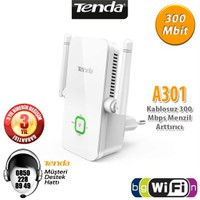 Tenda A301 WiFi-N 300Mbps 2 Anten Menzil Arttırıcı