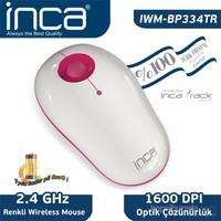 Inca Vivre IWM-BP334TR Inca-Track 1600 Dpi Wireless Nano Alıcılı Beyaz Pembe Mouse