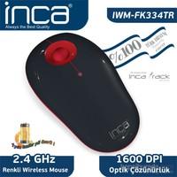 Inca Vivre IWM-FK334TR Inca-Track 1600 Dpi Wireleless Nano Alıcılı Siyah Kırmızı Mouse