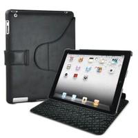 Muvit Snow Clip iPad 2 Kılıf ve Dönebilen Stand (Siyah)