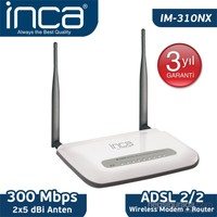 Inca IM-310NX 300 Mbps 11N 10dbi Adsl2/2 4 port Wireless Modem/Router