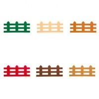 La Mia Hobi Keçe 10'Lu Karışık Renk Çit Keçe Motifler