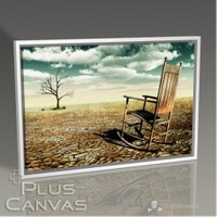 Pluscanvas - Chair On An Arid Land Tablo