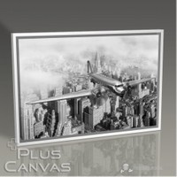 Pluscanvas - New York - Vintage View Tablo