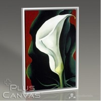 Pluscanvas - Georgia Okeeffe - Single Lily With Red 1928 Tablo