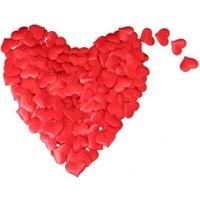 Pandoli 200 Adet Kırmızı Kalp Süsler 3 Cm