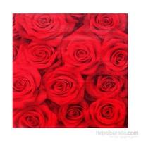 Kullan At Market Kırmızı Güller Peçete