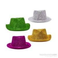 KullanAtMarket Yılbaşı Simli Plastik Şapka