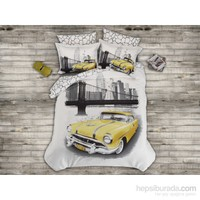 Prima Casa Saten Tek Kişilik Nevresim Takımı Yellow Taxi