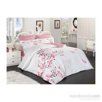 Prima Casa Saten Tek Kişilik Nevresim Takımı Sakura Beyaz
