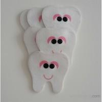 Desenli Keçeler Ütüyle Yapışabilen Diş Desenli Keçe Aplike